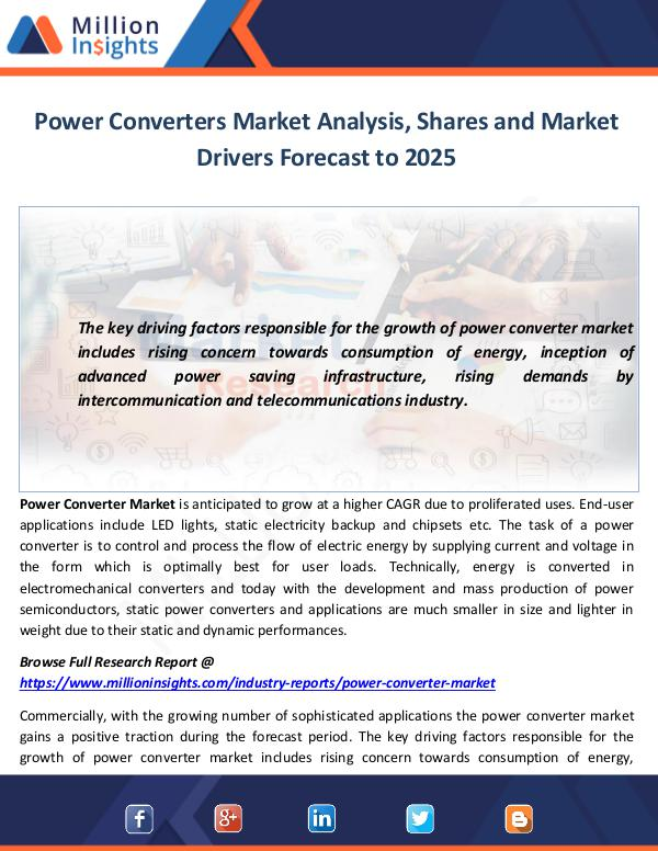 Power Converters Market Analysis, Shares and Marke