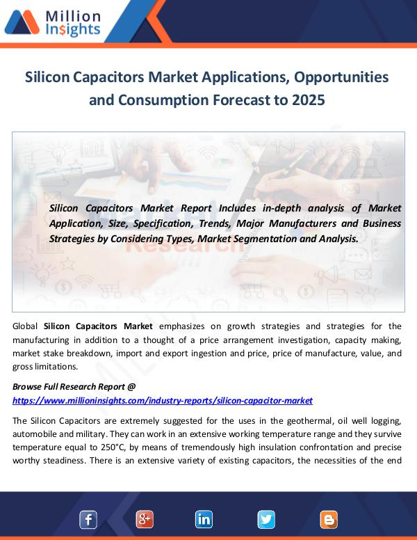 Silicon Capacitors Market Applications, Opportunit