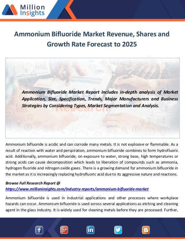 Ammonium Bifluoride Market