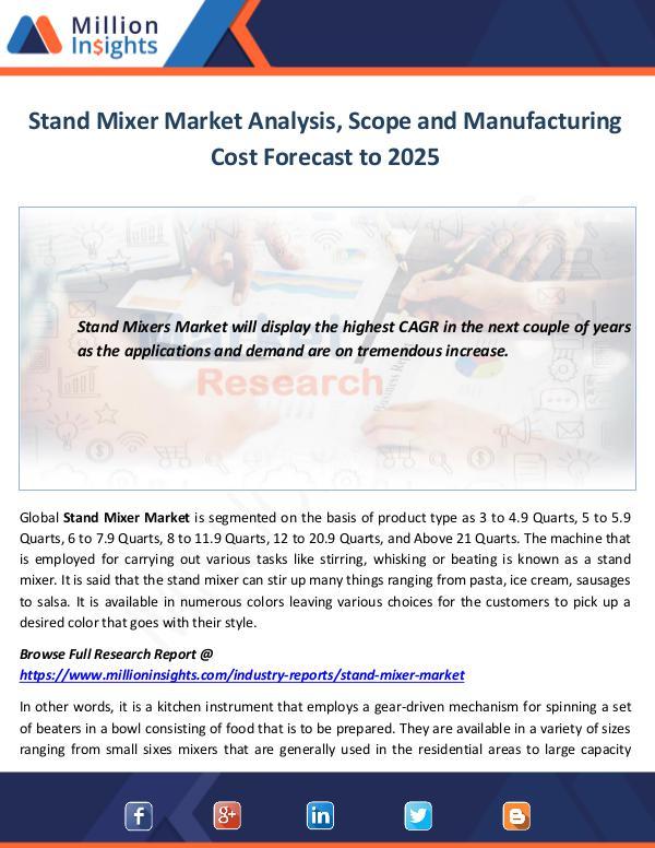 Stand Mixer Market Analysis