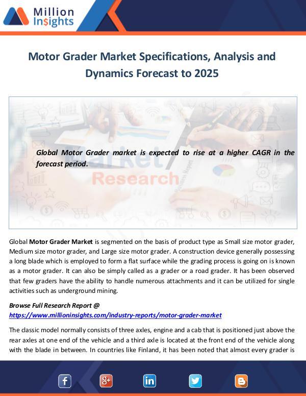 Motor Grader Market Analysis