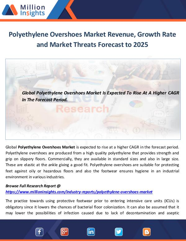 Polyethylene Overshoes Market Growth
