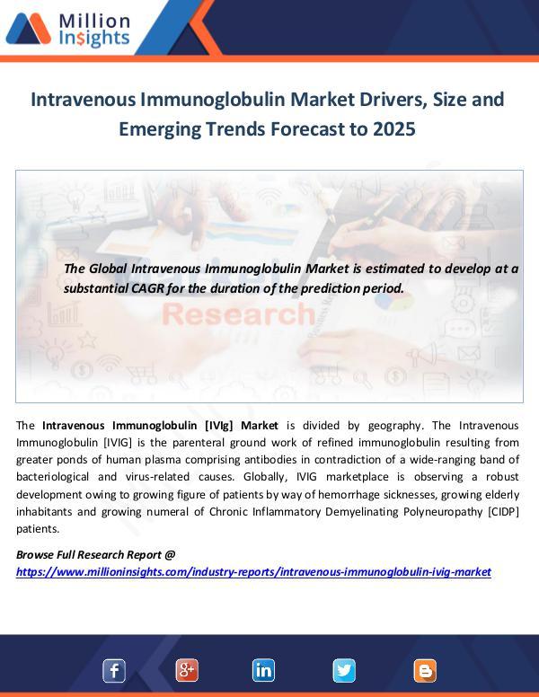 Intravenous Immunoglobulin Market Drivers