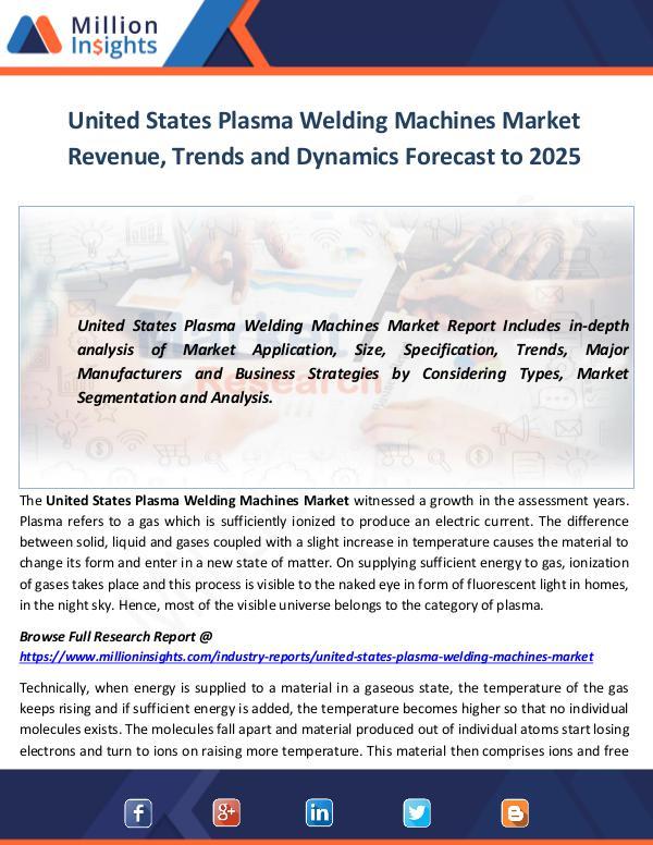 United States Plasma Welding Machines Market