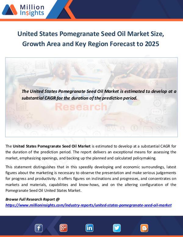 United States Pomegranate Seed Oil Market