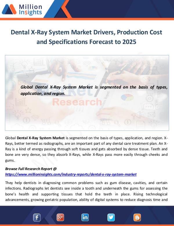 Dental X-Ray System Market Drivers