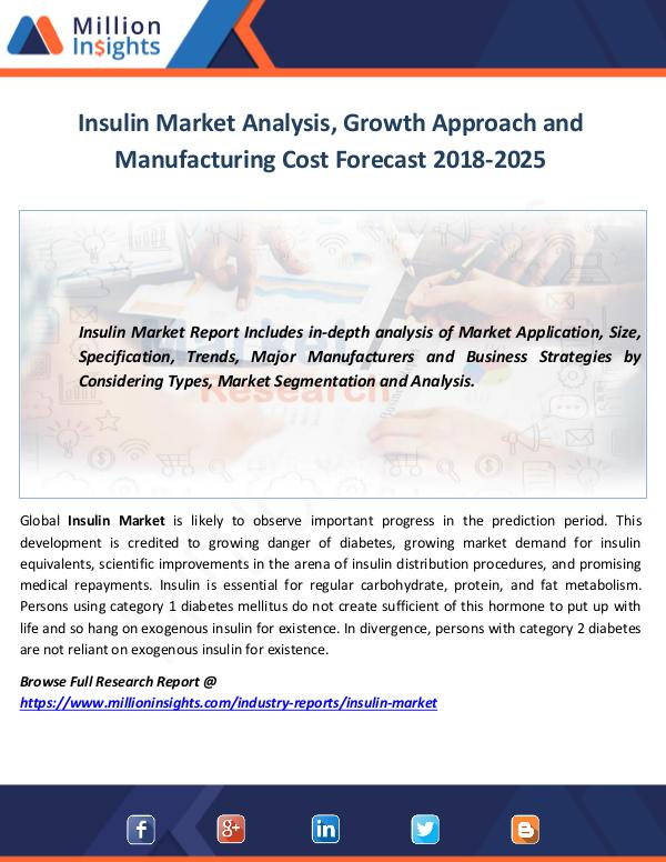 Insulin Market Analysis