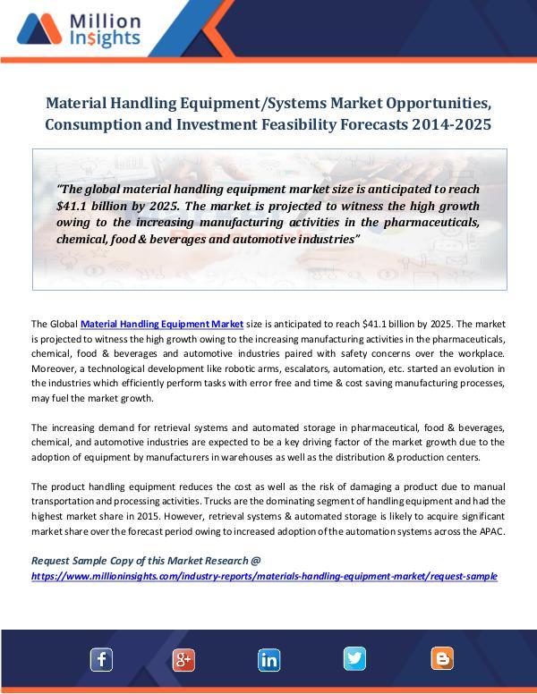 Material Handling Equipment Systems Market