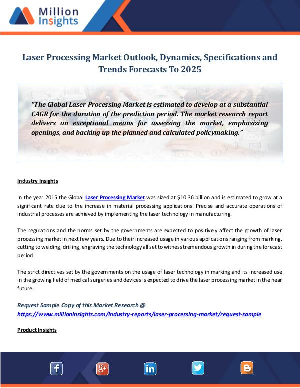 Market World Laser Processing Market Outlook