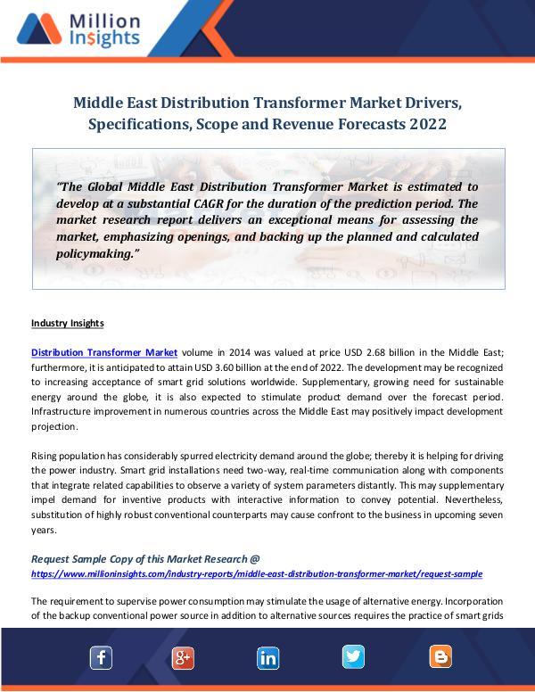 Middle East Distribution Transformer Market