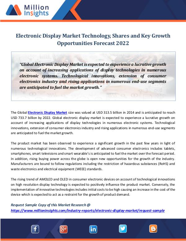 Electronic Display Market