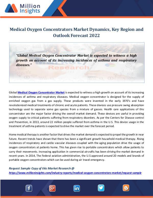 Market Research Insights Medical Oxygen Concentrators Market