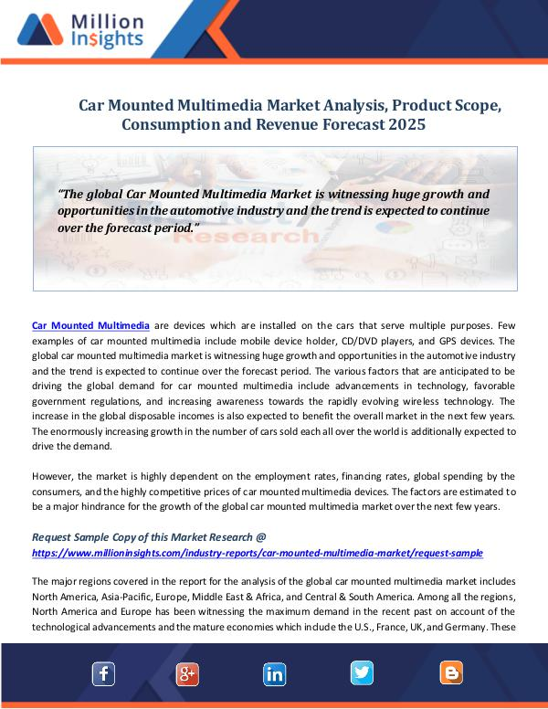 Car Mounted Multimedia Market