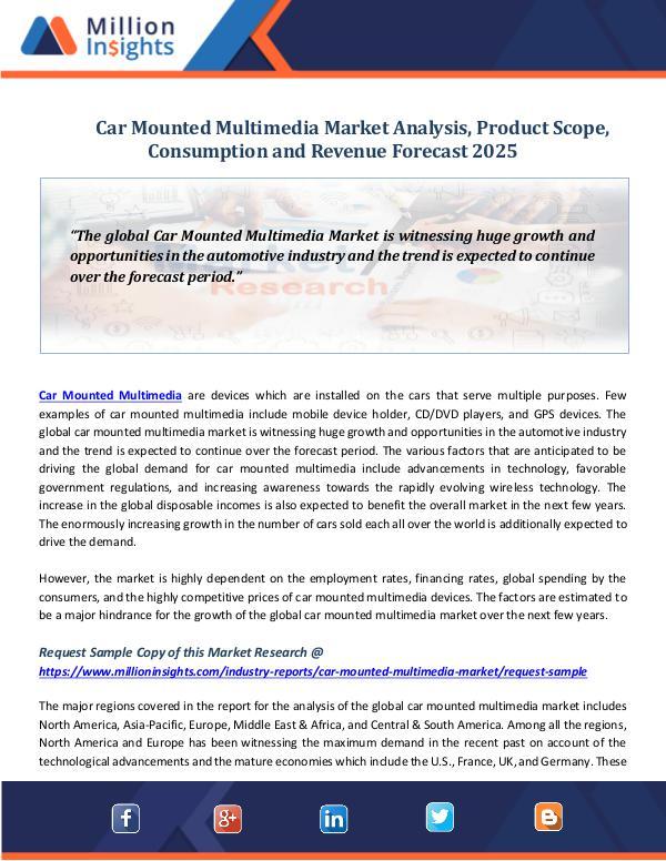 Car Mounted Multimedia Market