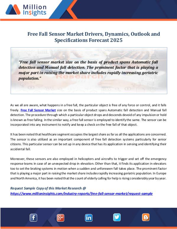 Market Research Insights Free Fall Sensor Market
