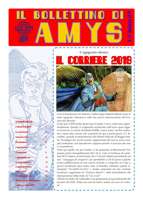 Tutti i Bollettini di AMys IL BOLLETTINO DI AMYS nr. 49-2019.low