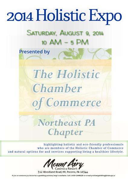 2014 - NEPA Holistic Chamber of Commerce 2014 Holistic Expo Program