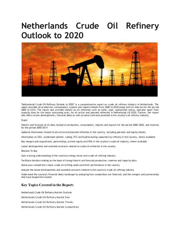 Ken Research - Netherlands Crude Oil Refinery Market Growth