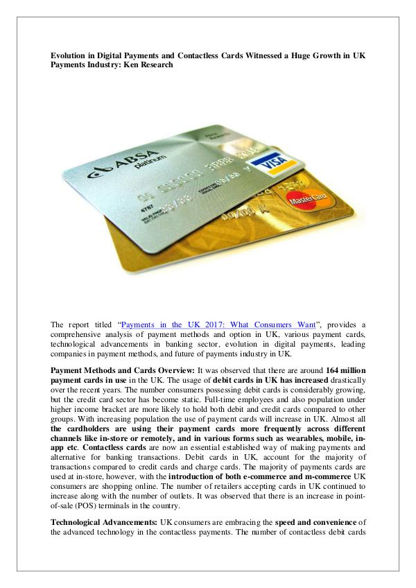 Ken Research - UK cards and payments market research report