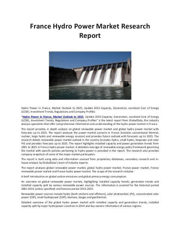 Ken Research - France Hydro Power Market Sales Growth