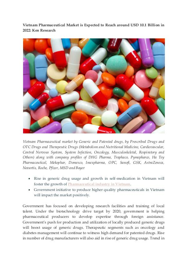 Ken Research - Vietnam Pharmaceutical Import And Export