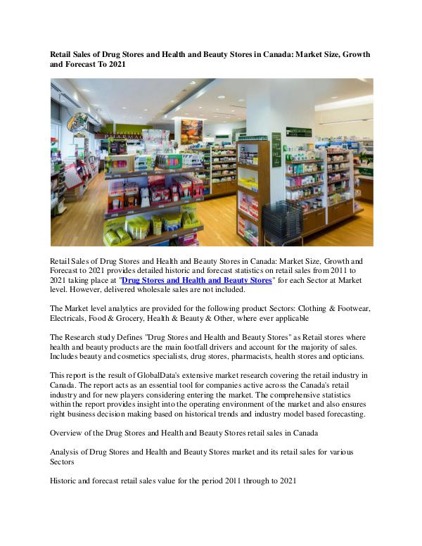 Ken Research - Canada Health and Beauty Stores Market Research Re