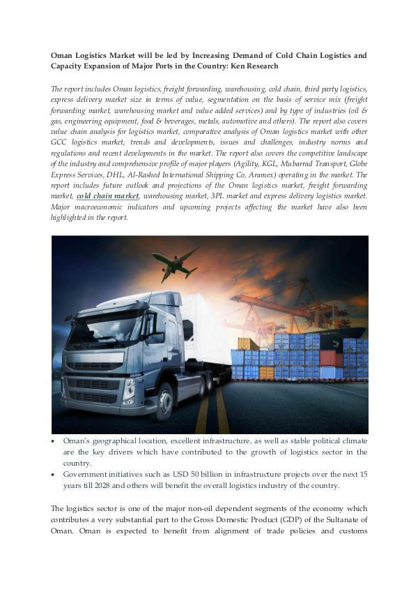 Ken Research - Oman Logistics Market Report
