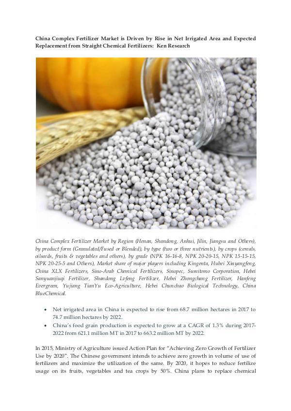Ken Research - China Complex Fertilizer Demand