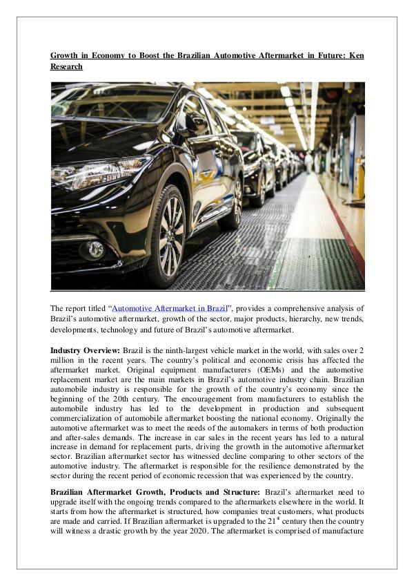 Ken Research - Brazil Automotive Aftermarket Research Report