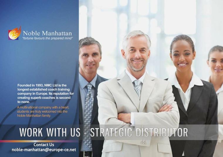 Work With us - Strategic Distributor Strategic Distributor Brochure
