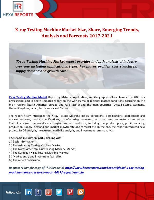 X-ray Testing Machine Market Size, Share, Emerging