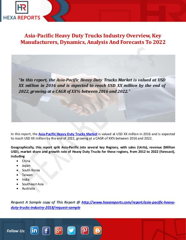 Asia-Pacific Heavy Duty Trucks Industry Overview,