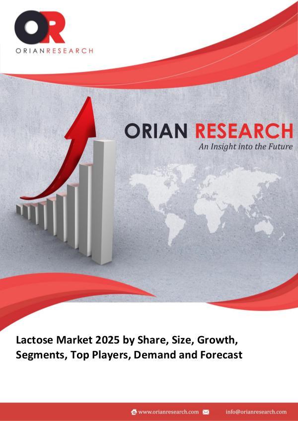 Lactose Market Global Lactose (Cas 63-42-3) Market Research Repor