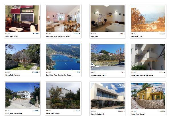 Real Estate Island Rab, Croatia letak