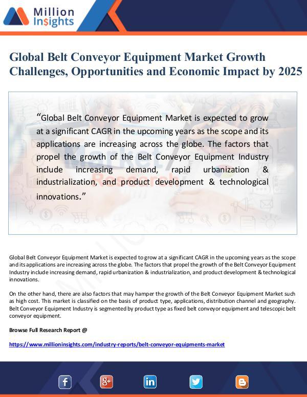 Market Giant Global Belt Conveyor Equipment Market Growth Chall
