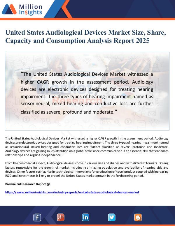 Market Giant United States Audiological Devices Market Size, Sh