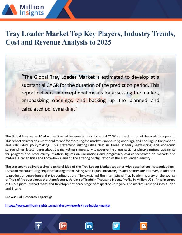Market Giant Tray Loader Market Top Key Players, Industry Trend