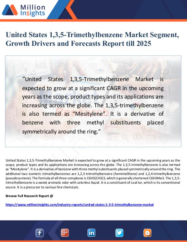 Market Giant United States 1,3,5-Trimethylbenzene Market Segmen