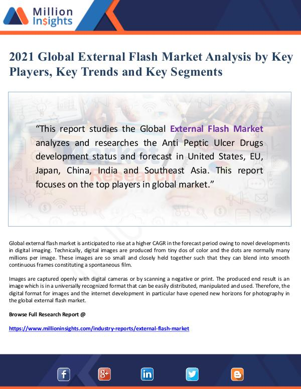 Global Research 2021 Global External Flash Market Analysis by Key