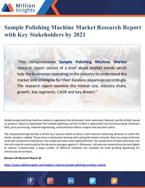 Global Research Sample Polishing Machine Market Research Report wi