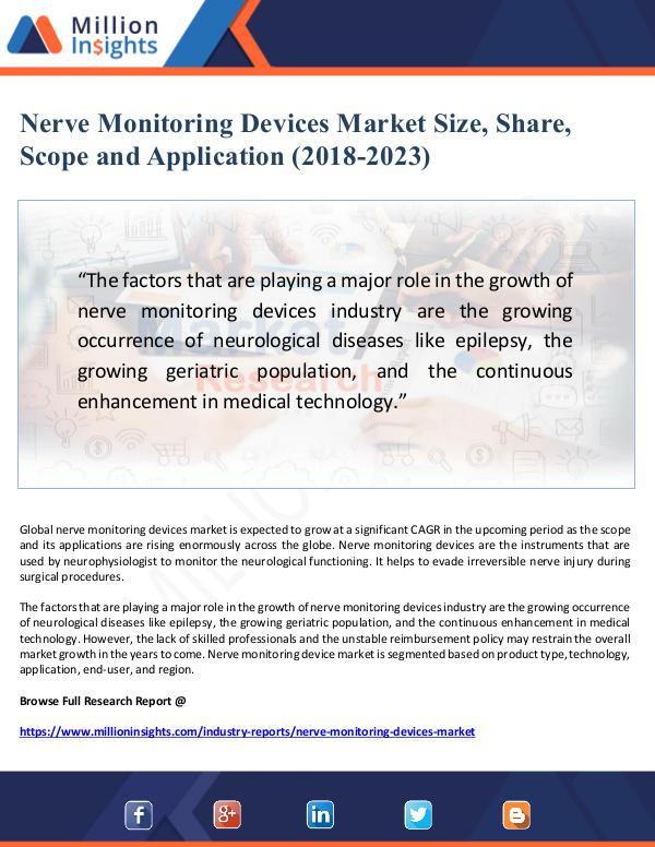 Market Giant Nerve Monitoring Devices Market Size, Share, Scope