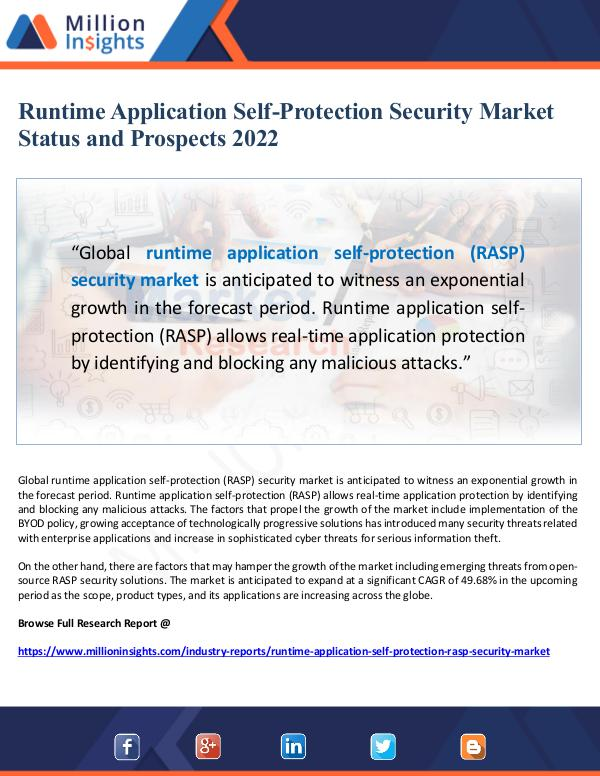 Market Giant Runtime Application Self-Protection Security Marke