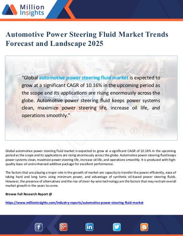 Global Research Automotive Power Steering Fluid Market Landscape 2