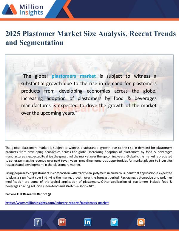 Market Giant Plastomer Market 2025 Size Analysis, Recent Trends