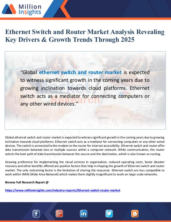 Market Giant Ethernet Switch and Router Market Analysis 2025
