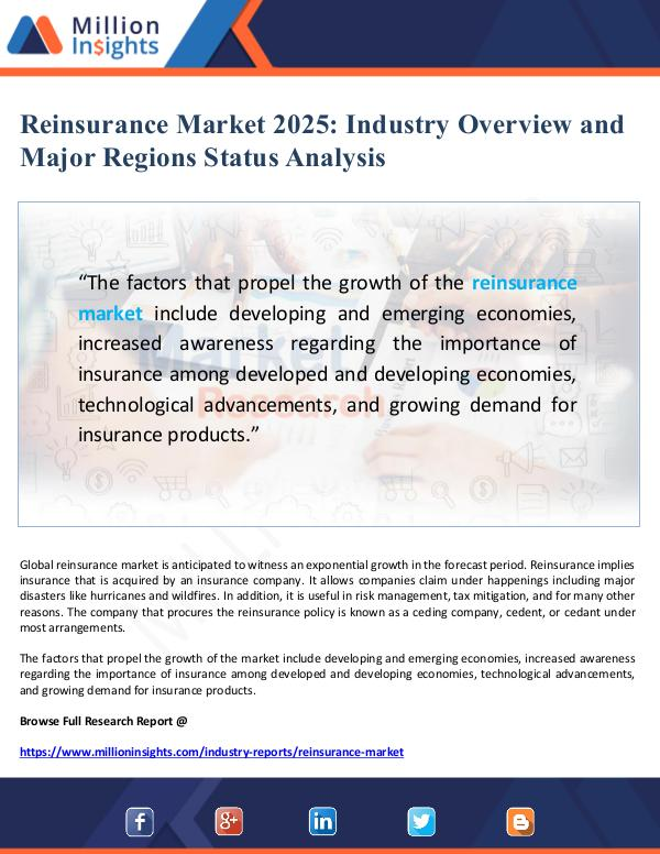 Global Research Reinsurance Market Overview and Status Analysis 20