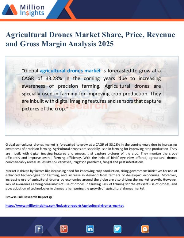 Global Research Agricultural Drones Market Share and Price Analysi