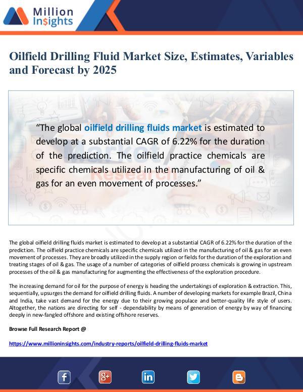 Oilfield Drilling Fluid Market Estimates and Varia
