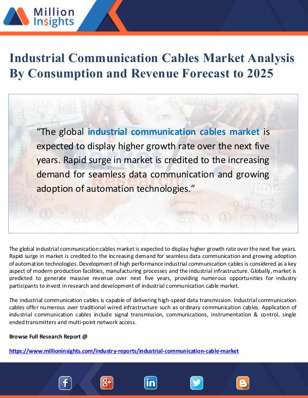 Industrial Communication Cables Market Analysis an