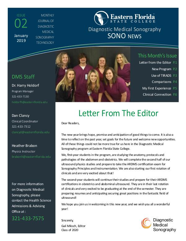 Diagnostic Medical Sonography News January 2019